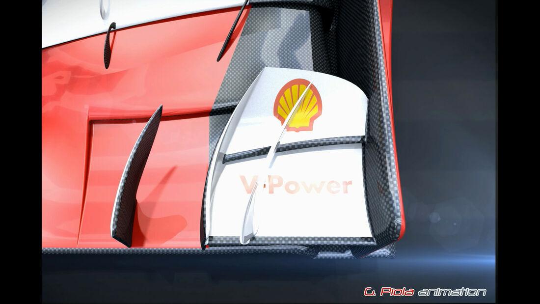 Ferrari - GP Russland 2015 - F1-Technik - Piola Animation