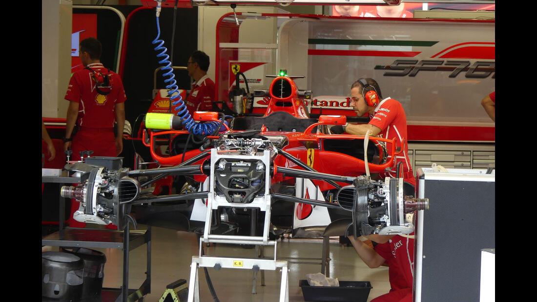 Ferrari - GP Singapur - Formel 1 - Donnerstag - 14.9.2017