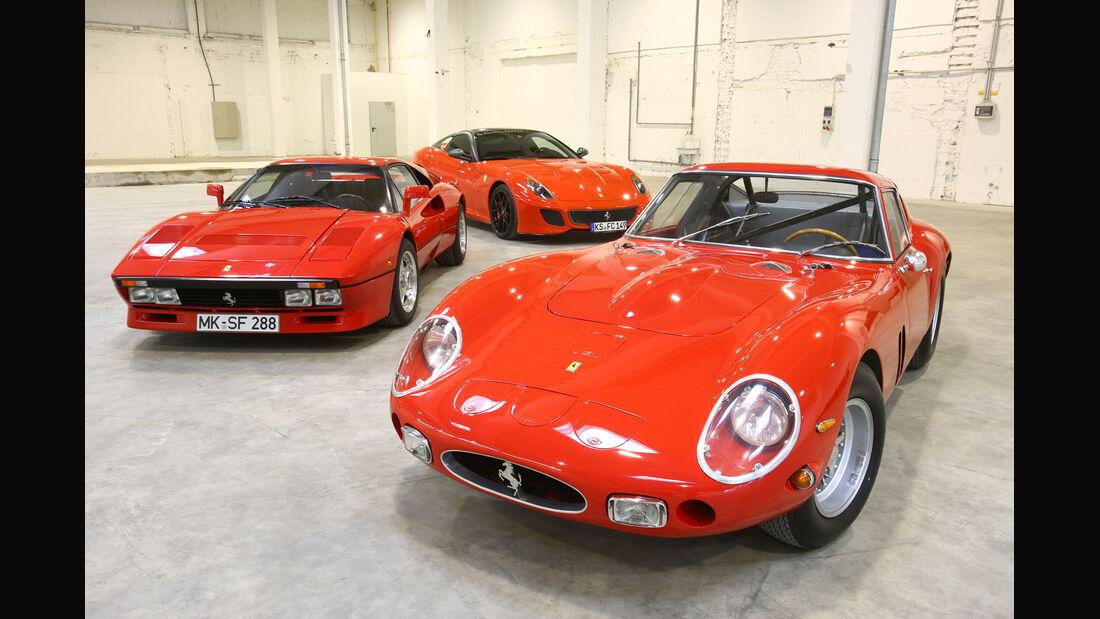 Ferrari GTO, Ferrari 250 GTO, Ferrari 599 GTO, Frontansicht