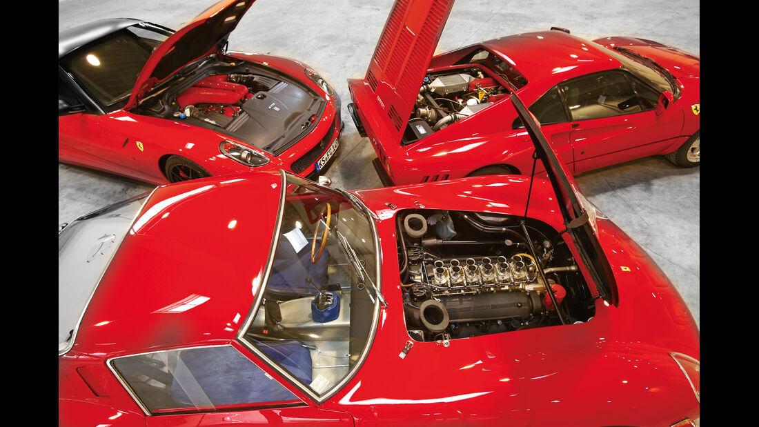 Ferrari GTO, Ferrari 250 GTO, Ferrari 599 GTO, Motorhaube