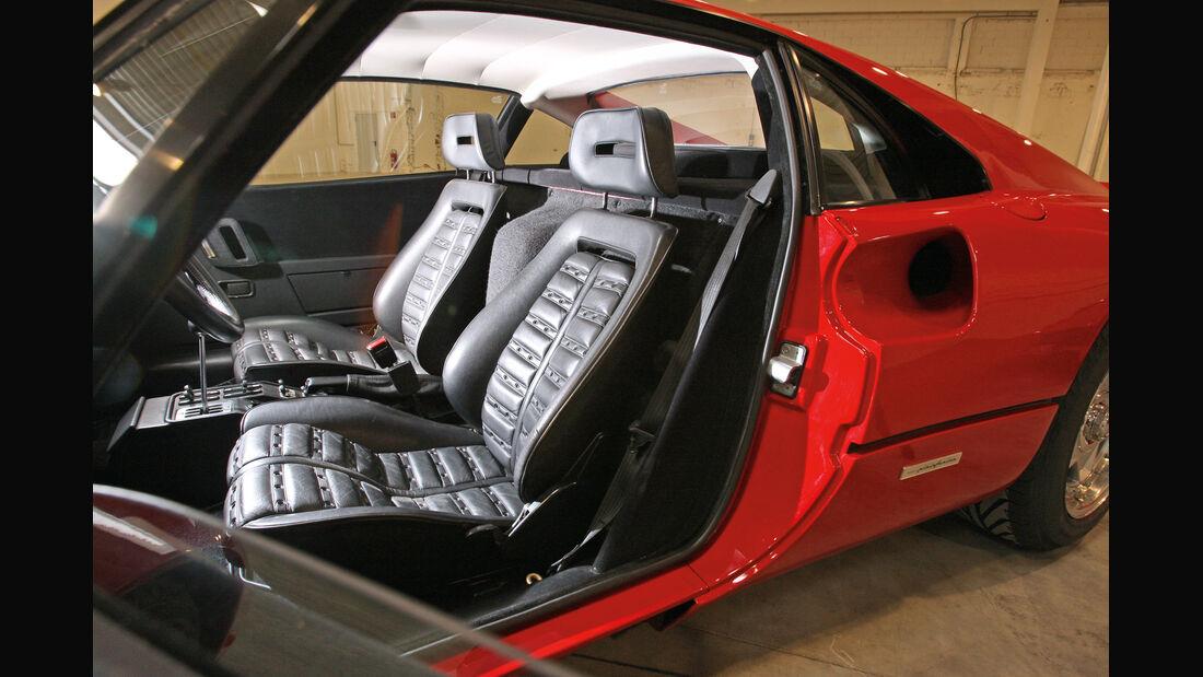 Ferrari GTO, Sitze, Ledersitze