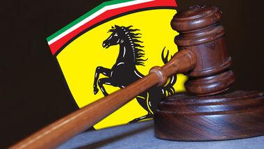 Ferrari Gericht Urteil Recht Hammer