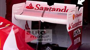Ferrari-Heckflügel Barcelona 2011