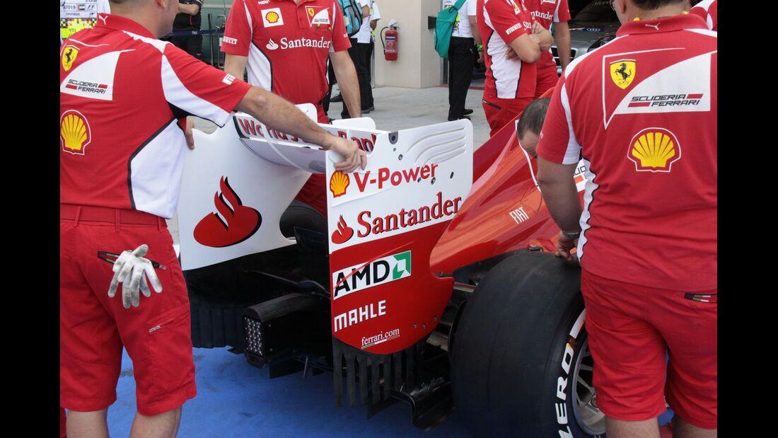 Ferrari Heckflügel - Formel 1 - GP Abu Dhabi - 01. November 2012