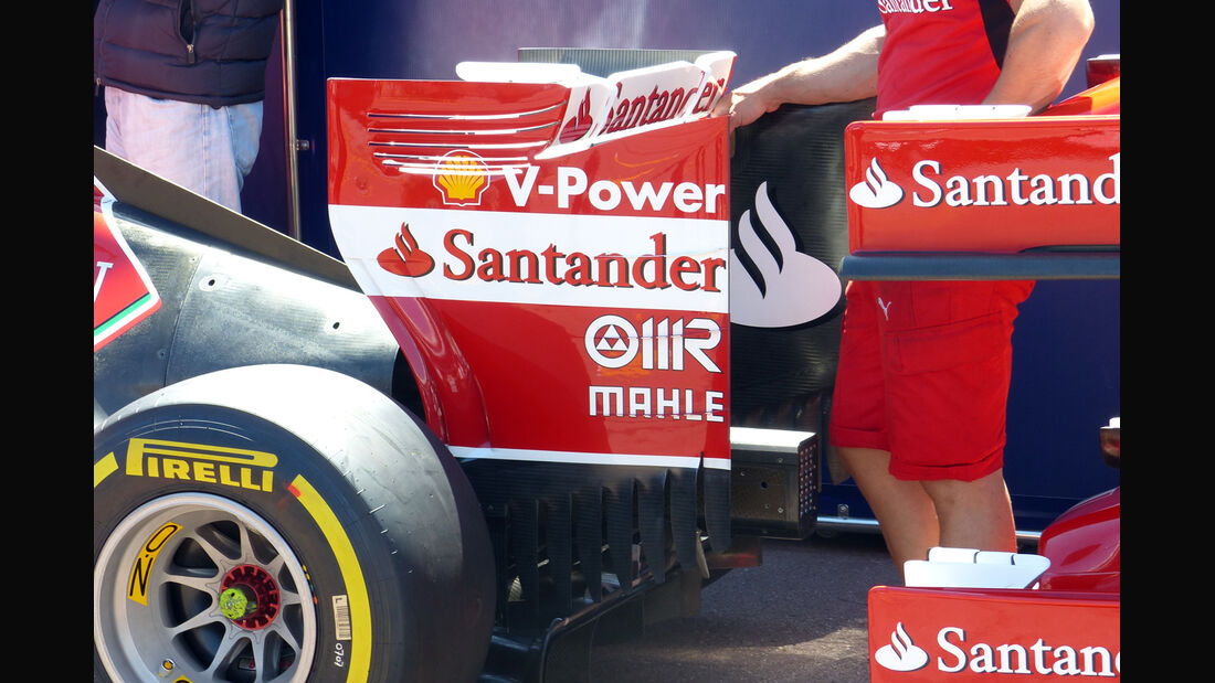 Ferrari Heckflügel - Formel 1 - GP Monaco - 23. Mai 2014