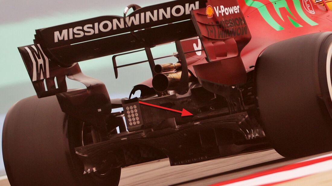 Ferrari - Hinterradaufhängung - F1-Test - Bahrain - 2021