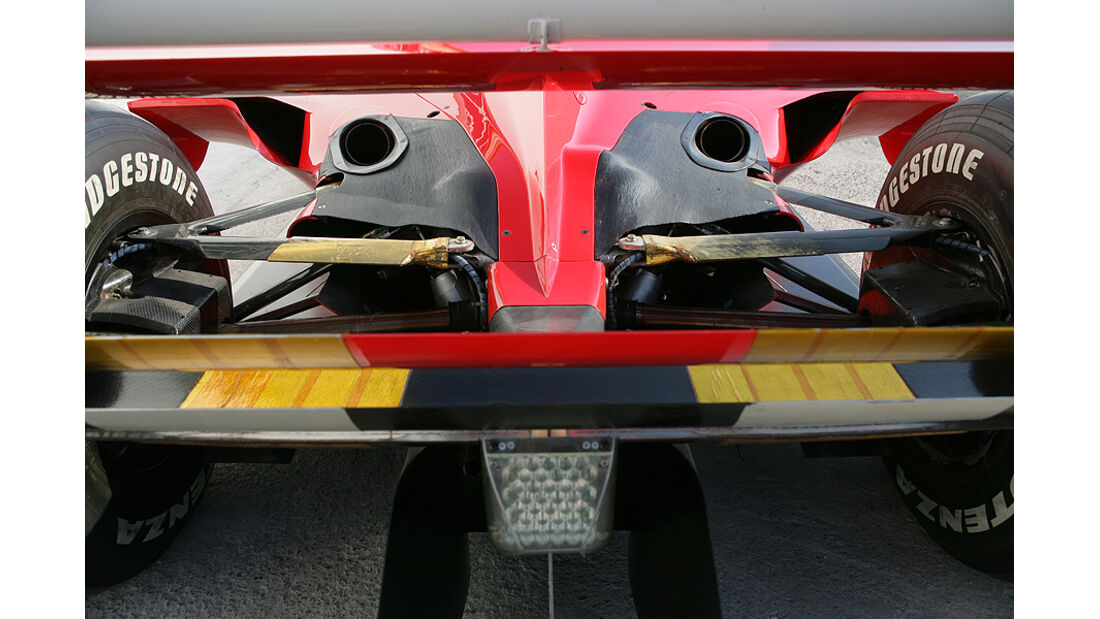 Ferrari Historie Ferrari F1-2000 Heck