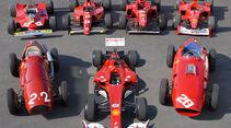 Ferrari Historie Gruppenbild