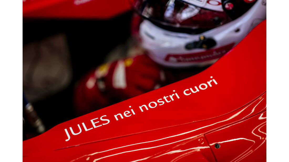 Ferrari - Jules Bianchi-Aufkleber - GP Ungarn 2015