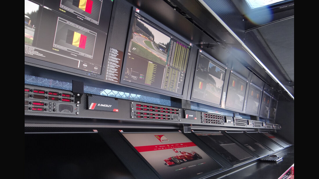 Ferrari-Kommandostand - Formel 1 - GP Belgien - Spa-Francorchamps - 31. August 2012