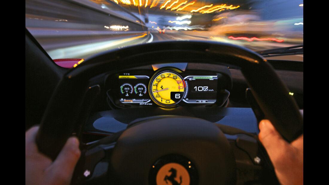 Ferrari LaFerrari, Anzeigeinstrumente