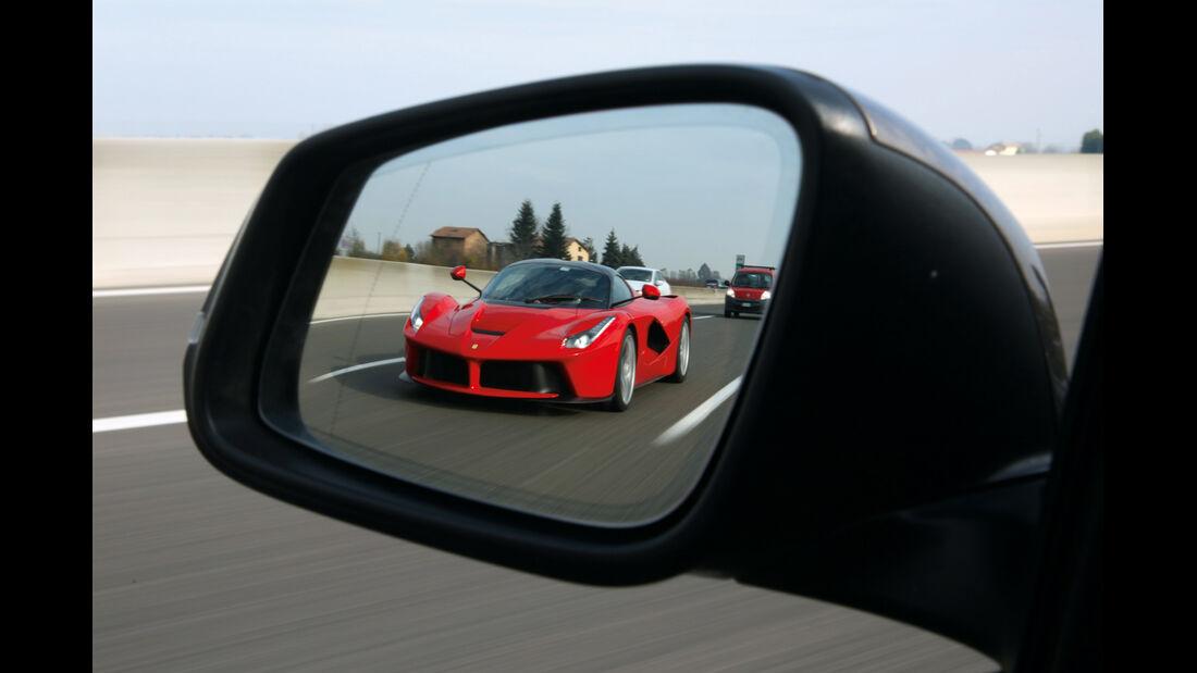 Ferrari LaFerrari, Frontansicht, Seitenspiegel