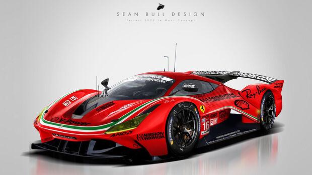 Ferrari Le Mans Hypercar Concept - Sean Bull Design
