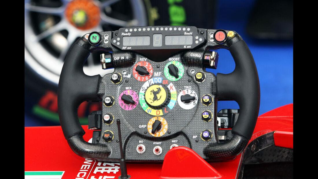 Ferrari-Lenkrad - Formel 1 - GP Belgien - Spa-Francorchamps - 24. August