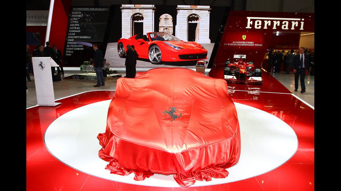 Ferrari Messestand, Autosalon Genf 2013