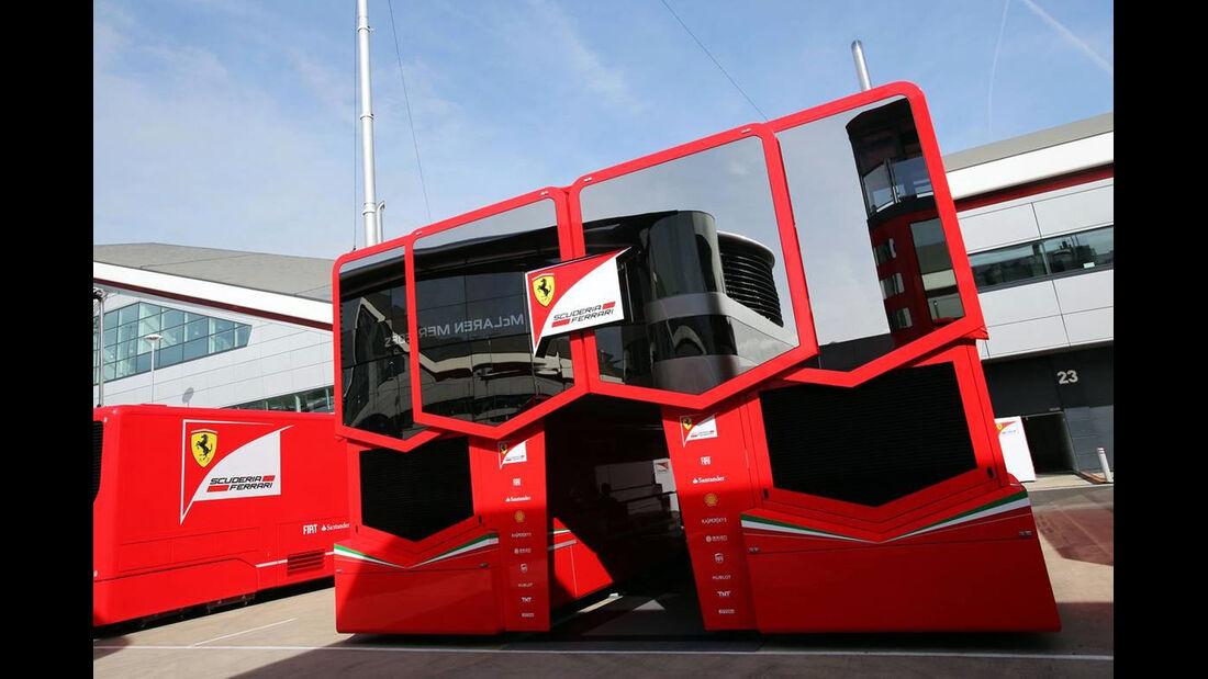 Ferrari Motorhome - Formel 1 - GP England - 29. Juni 2013