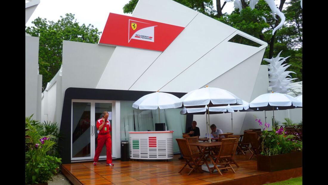 Ferrari-Pavillon - GP Singapur - 22. September 2011