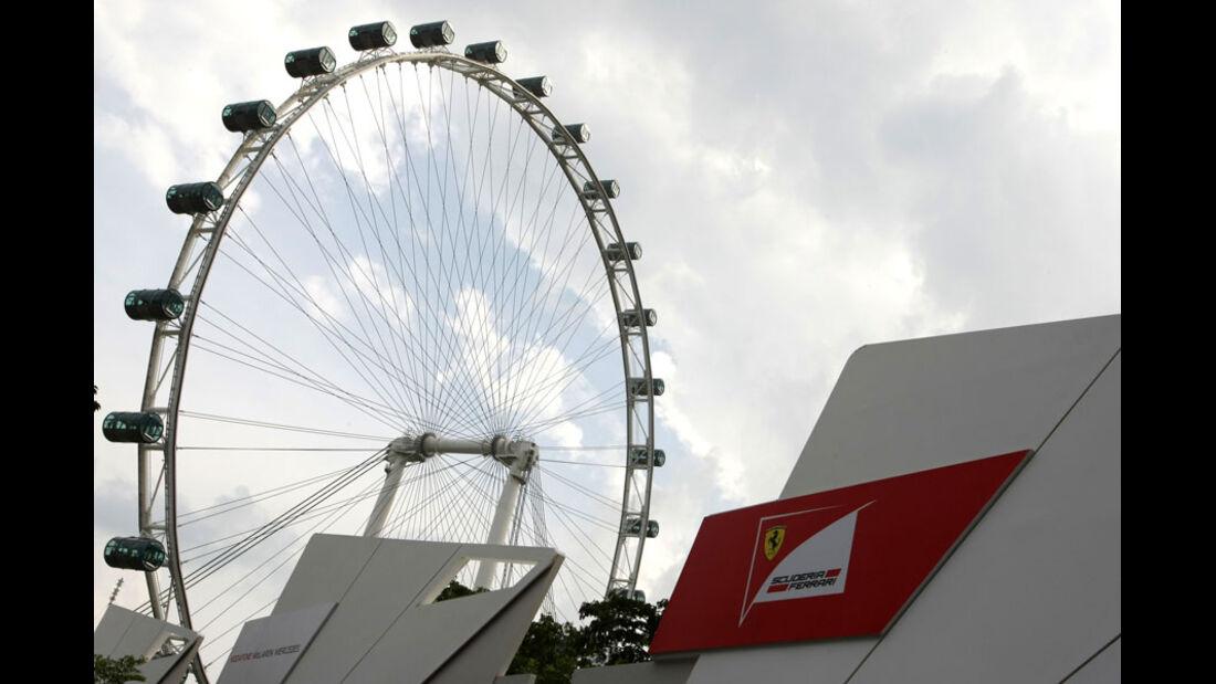 Ferrari-Pavillon - GP Singapur - 23. September 2011