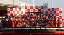 Ferrari-Podium GP Italien 2010