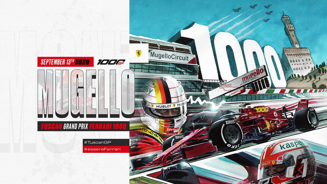 Ferrari - Poster - GP Toskana - Mugello - 2020