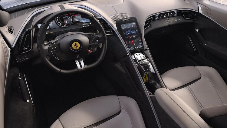 Ferrari Roma 2020 Front Mittelmotor Sportler Mit V8 Biturbo Auto Motor Und Sport