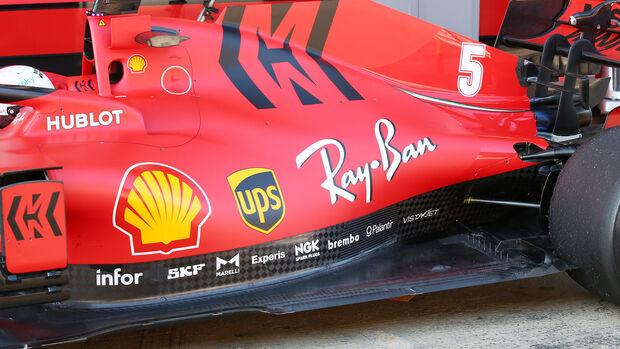 Ferrari - SF1000 - Motorabdeckung - Formel 1
