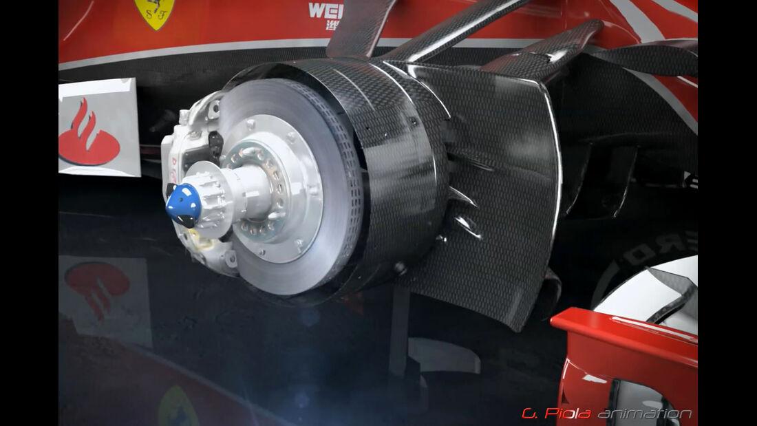 Ferrari SF15-T - Piola Technik - Bremse - Formel 1 - 2015