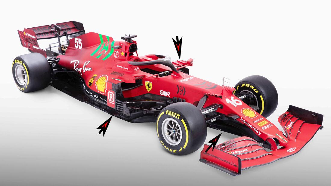 Ferrari SF21 - Formel 1 - Technik - 2021