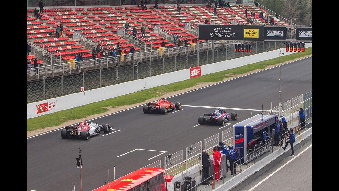 Ferrari, Sauber & Toro Rosso - Barcelona F1-Test 2018 - Tag 1ona F1-Test 2018 - Tag 1