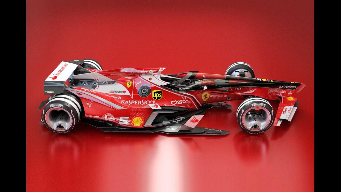 Ferrari - Semi Closed Canopy - Cockpit-Protection - Concept - Wekoworks - F1 - 2015