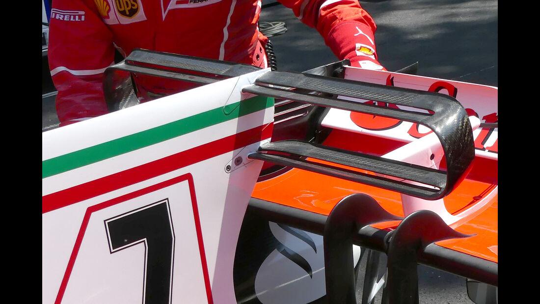 Ferrari - T-Flügel - F1-Technik - GP Monaco 2017