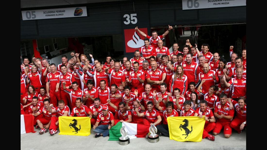 Ferrari Team GP England 2011 Rennen