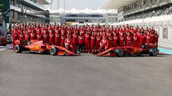 Ferrari - Teamfoto - GP Abu Dhabi 2019