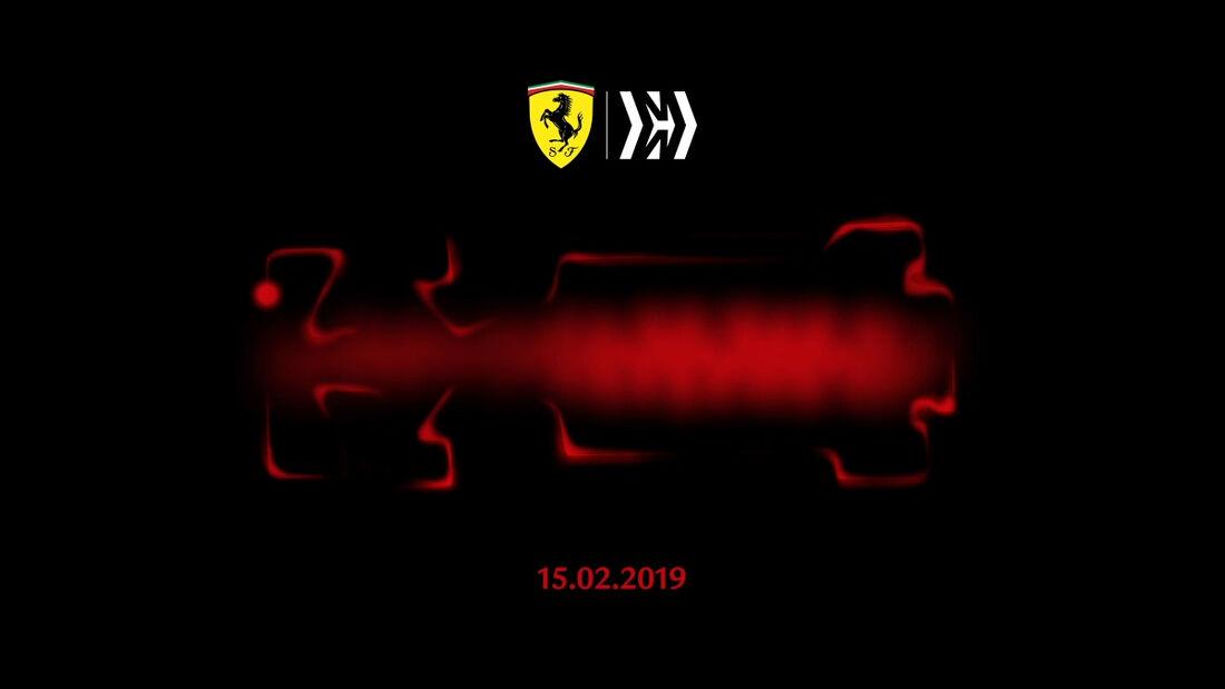 Ferrari - Teaser-Bild - Motor-Start 2019