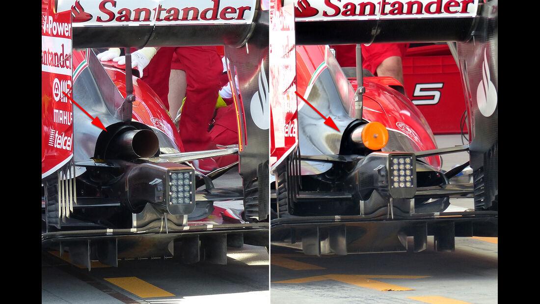 Ferrari - Technik - GP China / GP Bahrain - Formel 1 - 2015