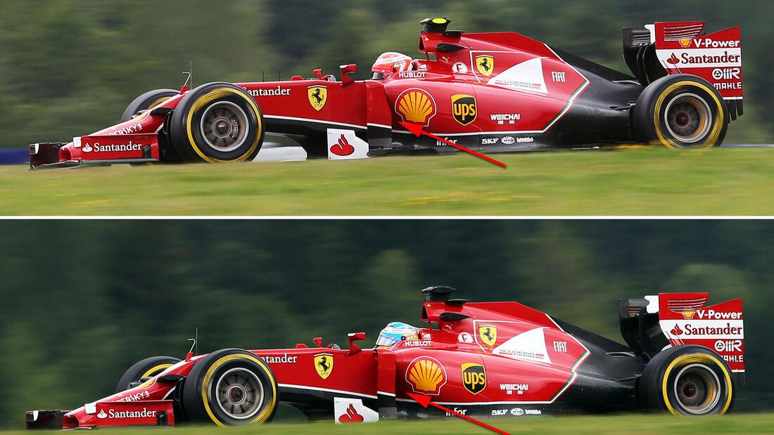Ferrari - Technik - GP Österreich 2014