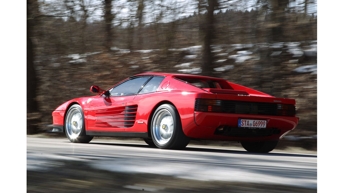 Ferrari Testarossa, Heckansicht
