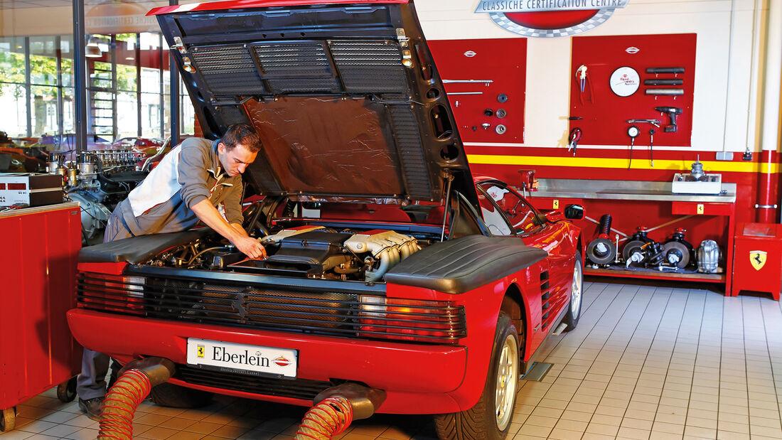 Ferrari Testarossa Service Station Großprojekt Supersportwagen Auto Motor Und Sport
