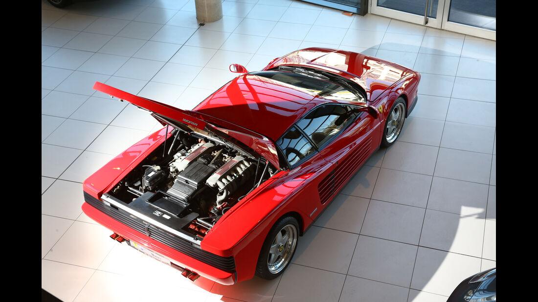 Ferrari Testarossa, Motor, Motorhaube