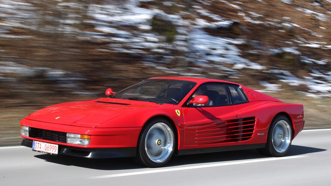 Ferrari Testarossa, Seitenansicht, Verkaufsgespräch