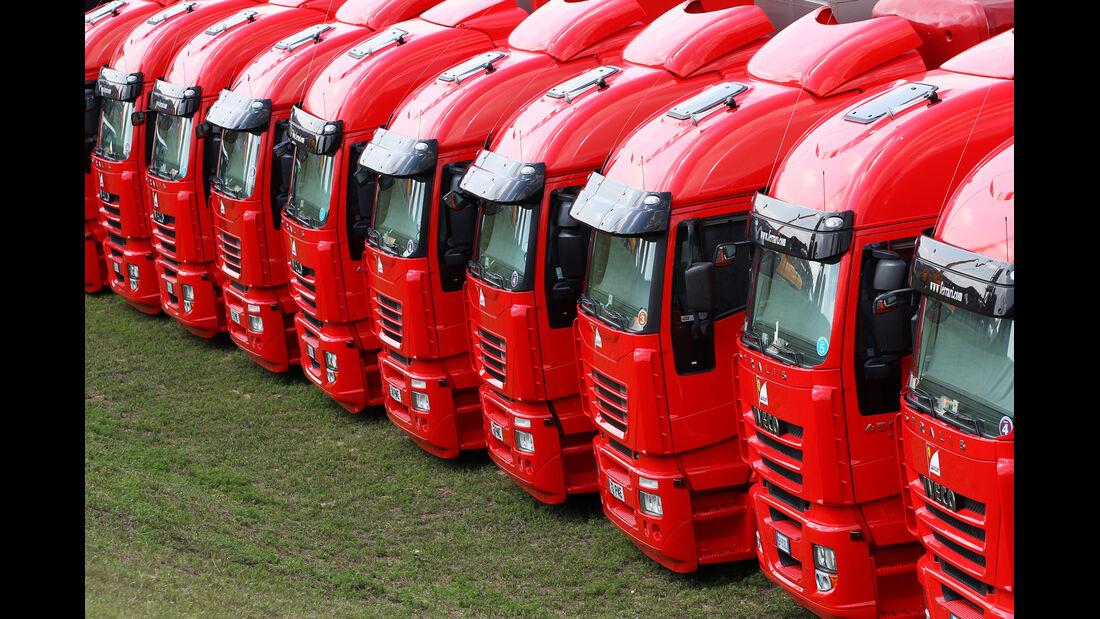 Ferrari-Trucks - Formel 1 - GP Ungarn - Budapest - 28. Juli 2012