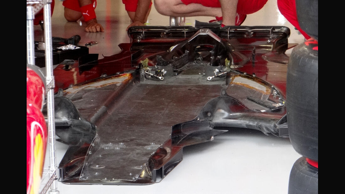 Ferrari-Unterboden - Formel 1 - GP Singapur - 20. September 2012