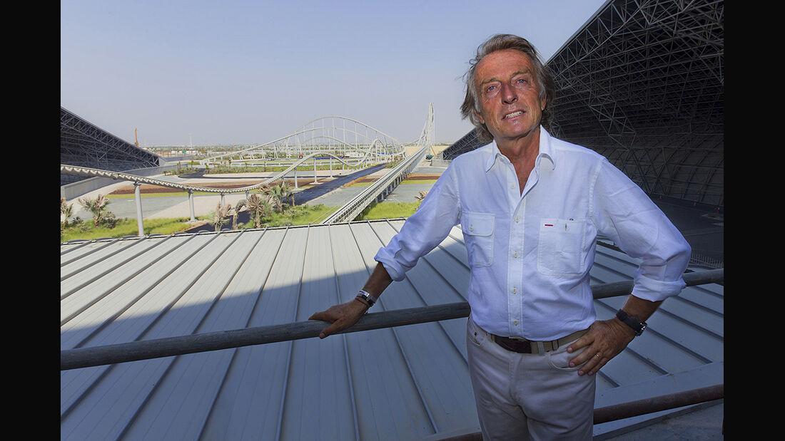 Ferrari World Abu Dhabi, Montezemolo