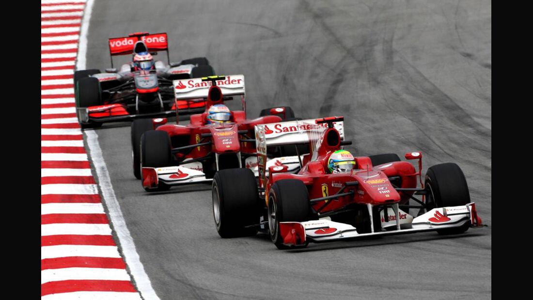 Ferrari im Zweikampf