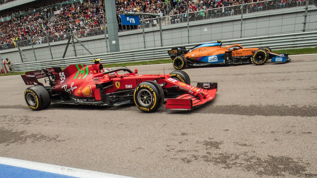 Ferrari vs. McLaren - Formel 1 - GP Russland 2021