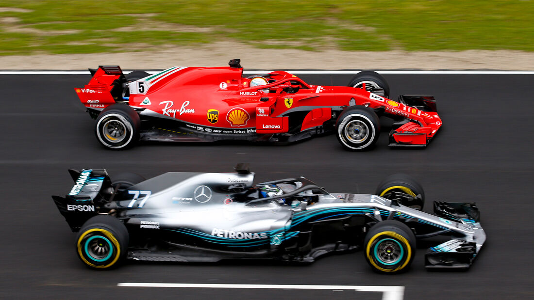 Ferrari vs. Mercedes - Barcelona-Test 2018