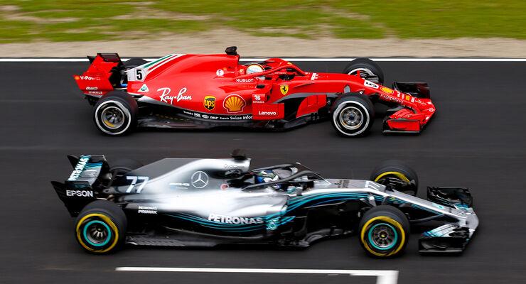 F1 Technik Upgrade Vergleich Ferrari Aggressiver Als Mercedes