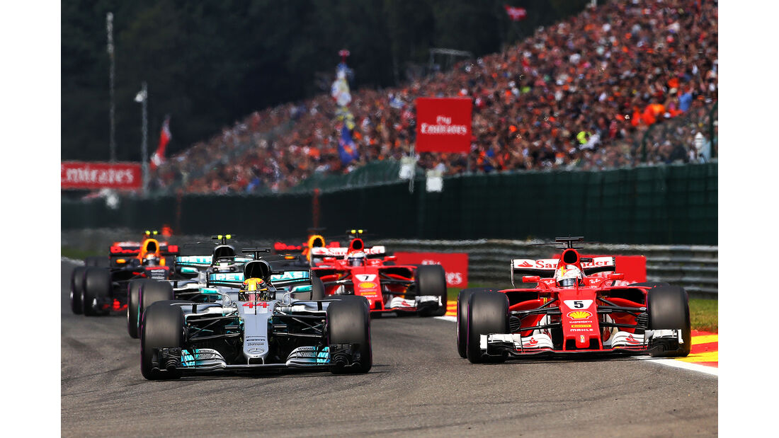 Ferrari vs. Mercedes - GP Belgien 2017
