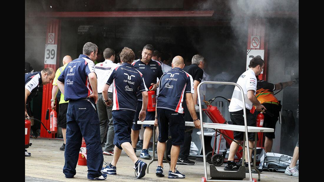 Feuer Williams GP Spanien 2012