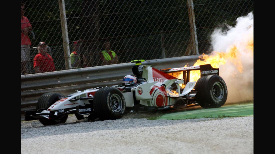 Feuer am Formel 1-Honda - Anthony Davidson